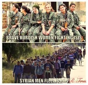 Heldhaftige dames die strijden en niet vluchten