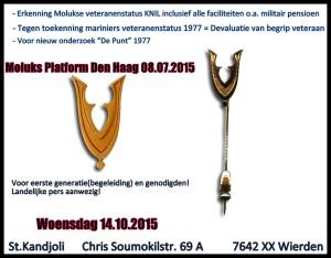Moluks Platform Den Haag eerste prioriteit!