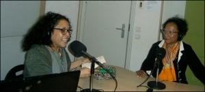 Phaidra Johannis met Nona Salakory studio Radio Oras Amsterdam