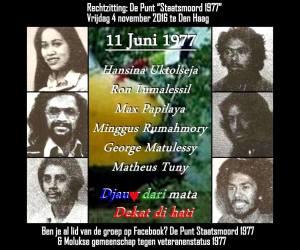 """Eerste rechtszaak """"De Punt Staatsmoord 1977"""""""